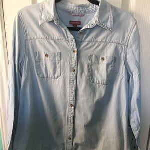 Merona jean long sleeve top